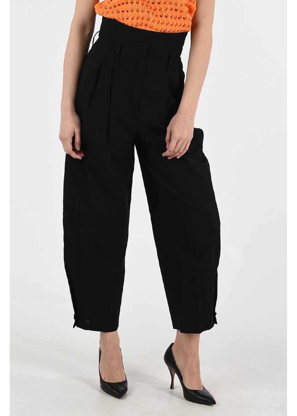 Givenchy high-rise waist pants BLACK