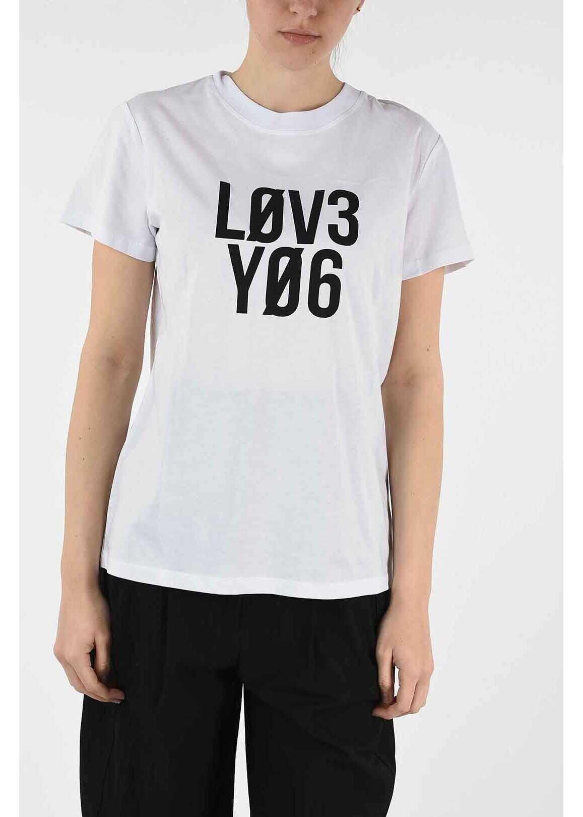 RED VALENTINO t-shirt with print WHITE
