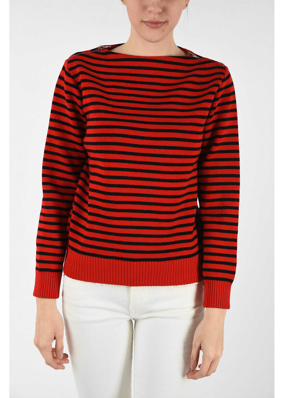 Céline wool striped sweater BLACK