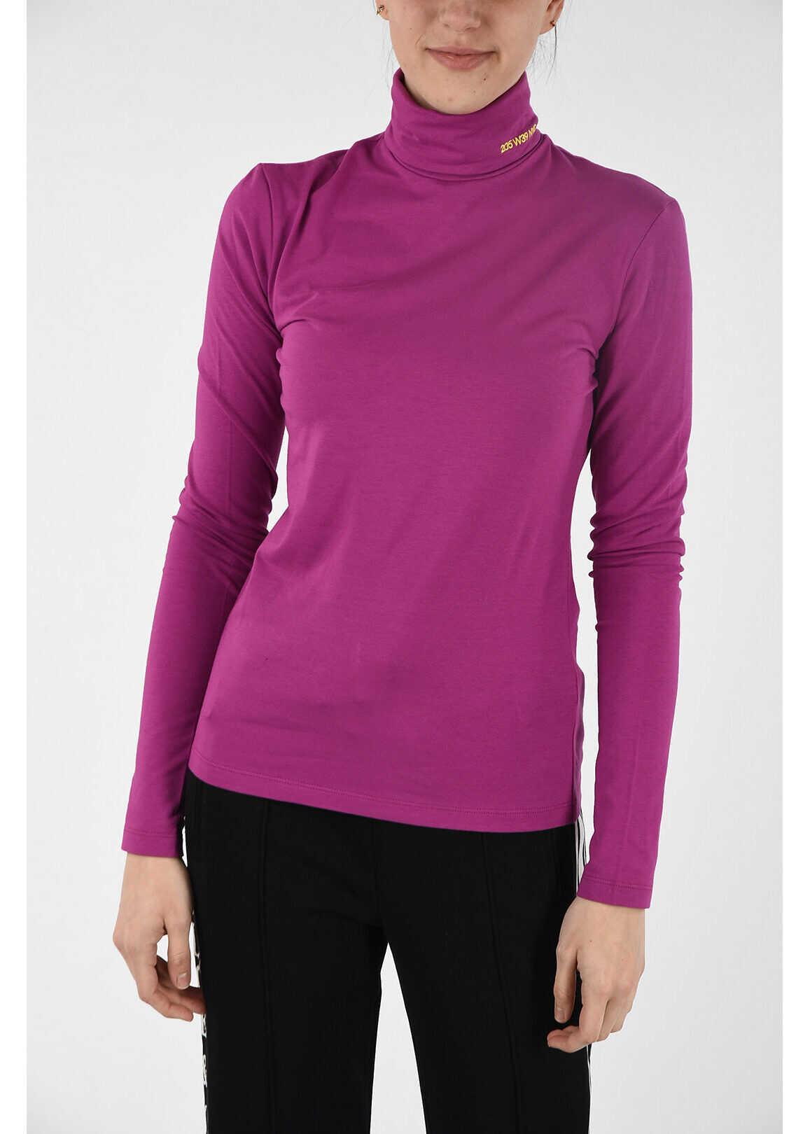 Calvin Klein 205W39NYC turtle-neck sweater VIOLET