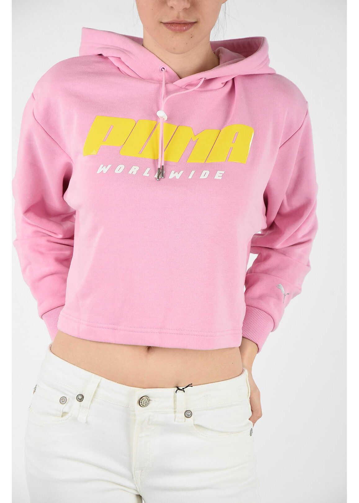 PUMA crop sweatshirt PINK