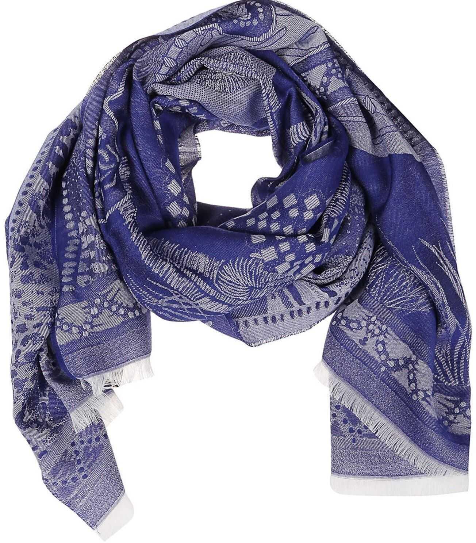 ETRO Geometric Foulard In Blue Blue