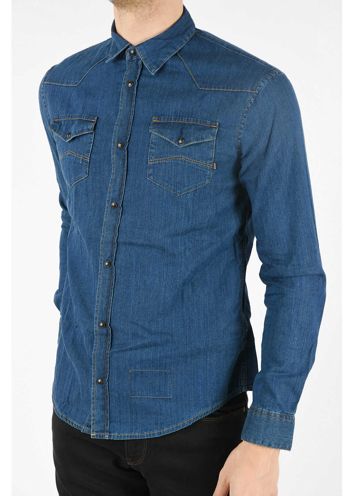 Armani ARMANI JEANS Denim Shirt BLUE imagine