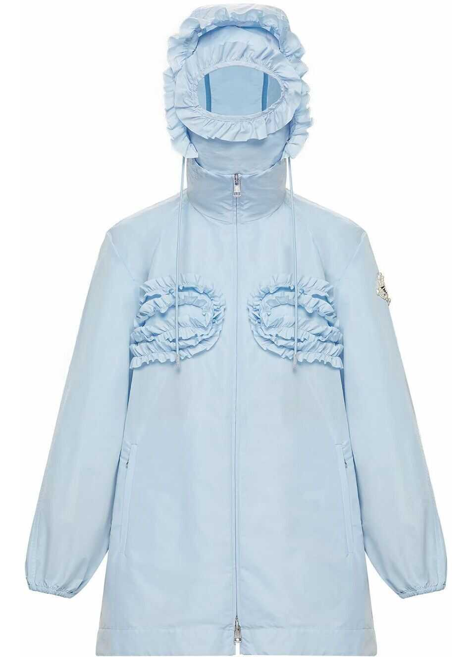 Moncler Polyester Outerwear Jacket LIGHT BLUE