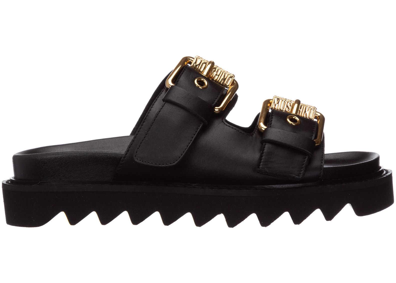 Moschino Slippers Sandals Black