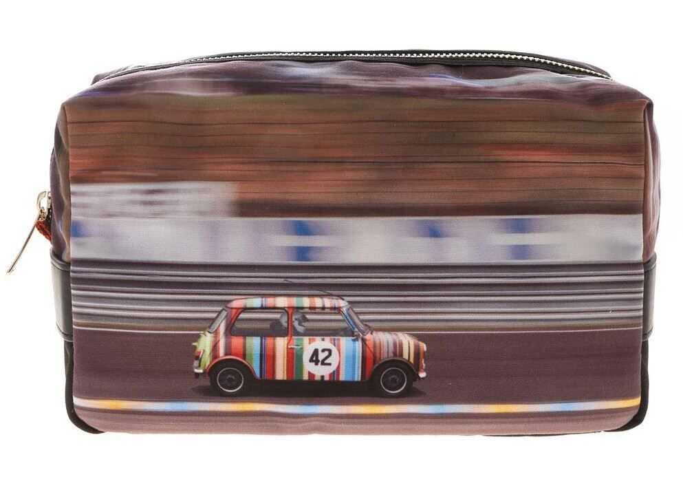 Paul Smith Racing Mini Print Beauty Case In Black M1A-5407-AMINRC PR Black imagine b-mall.ro