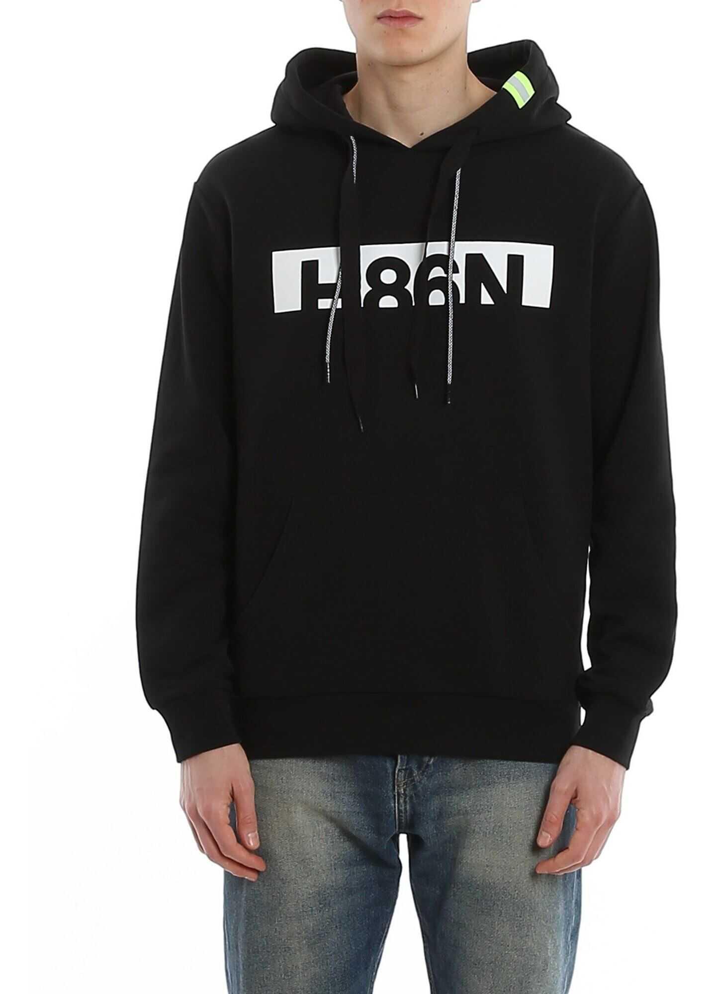 Hogan H86N Logo Sweatshirt In Black Black