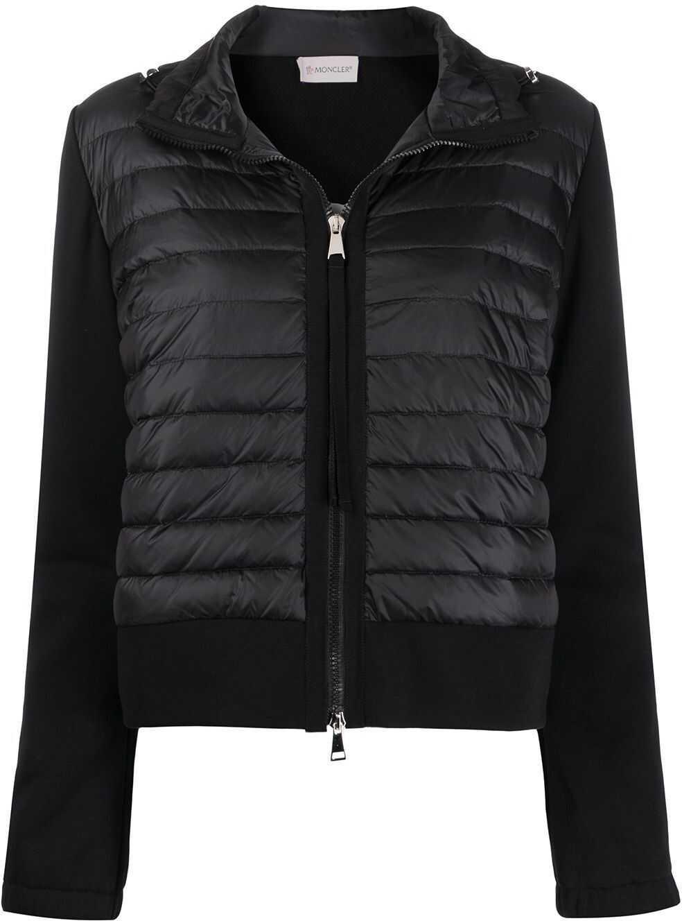 Moncler Cotton Outerwear Jacket BLACK