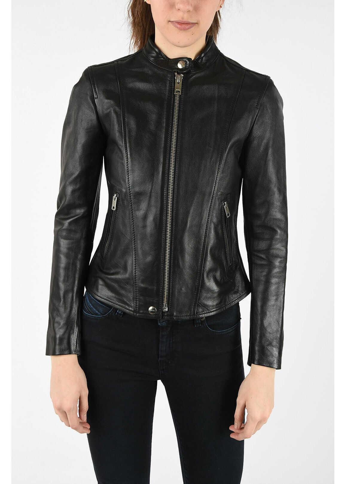Diesel Leather L-SPEZY Jacket BLACK