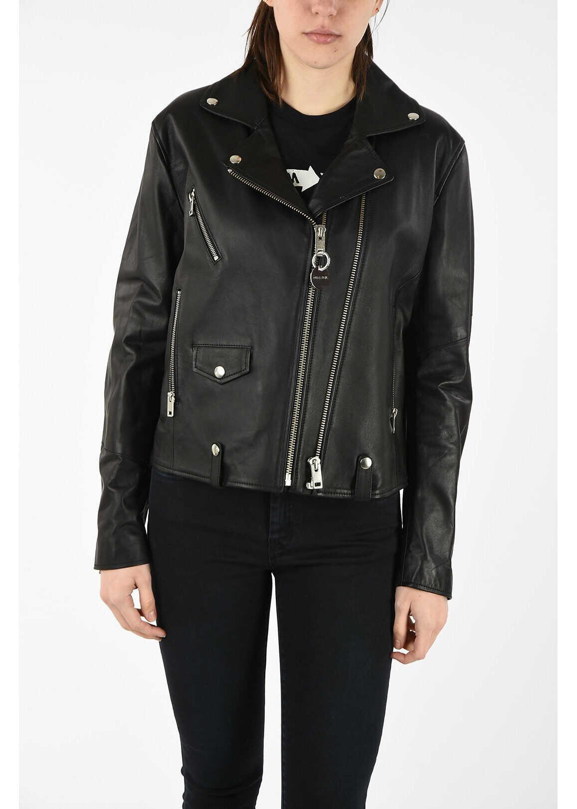 Diesel Leather L-LYF Jacket BLACK