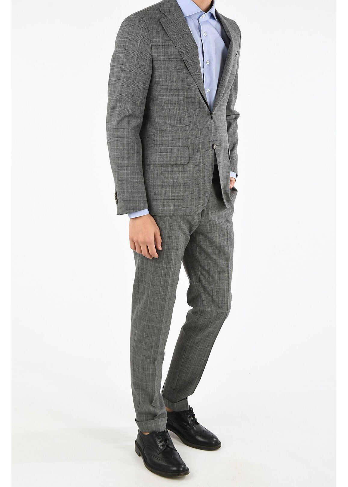 CORNELIANI CC COLLECTION virgin wool RETAILORED suit GRAY imagine