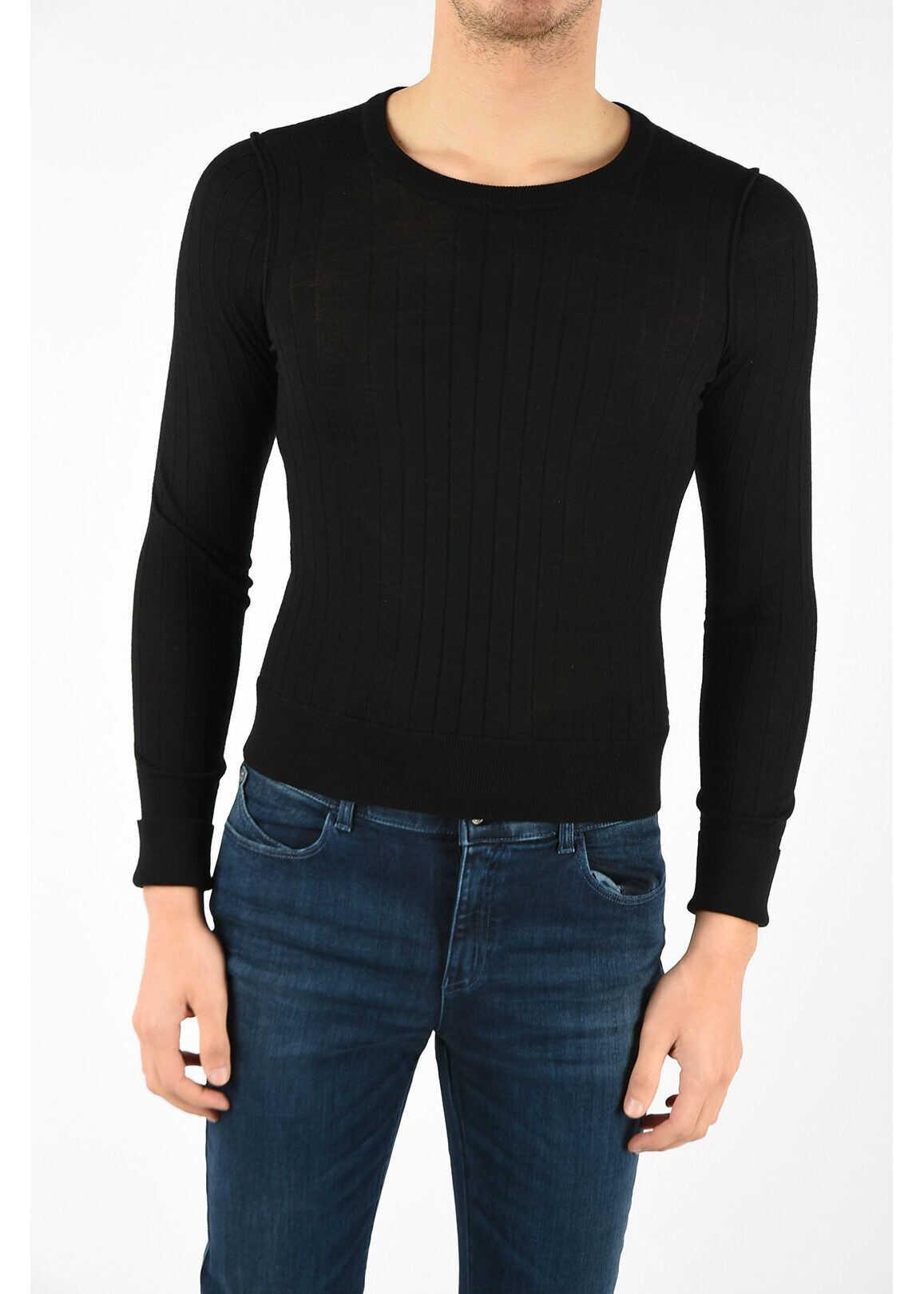 Neil Barrett Ribbed Light Sweater BLACK