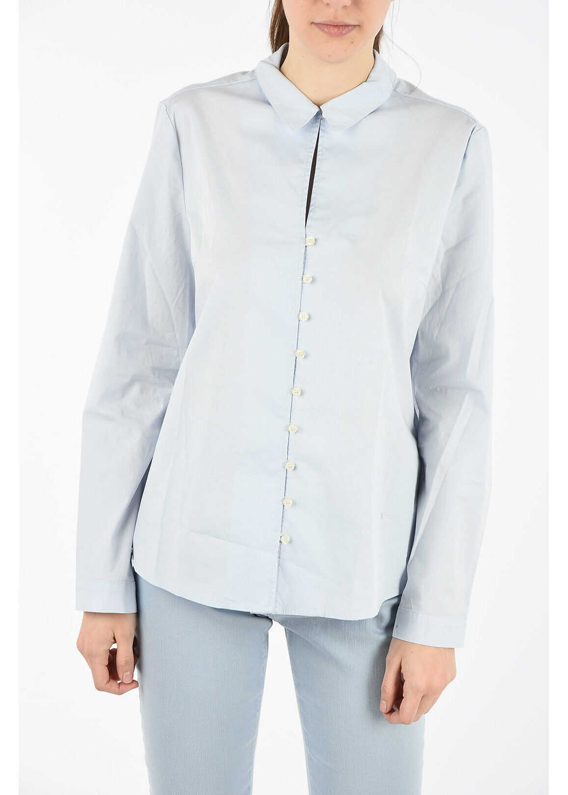 Armani ARMANI JEANS Stretch Cotton Blouse LIGHT BLUE