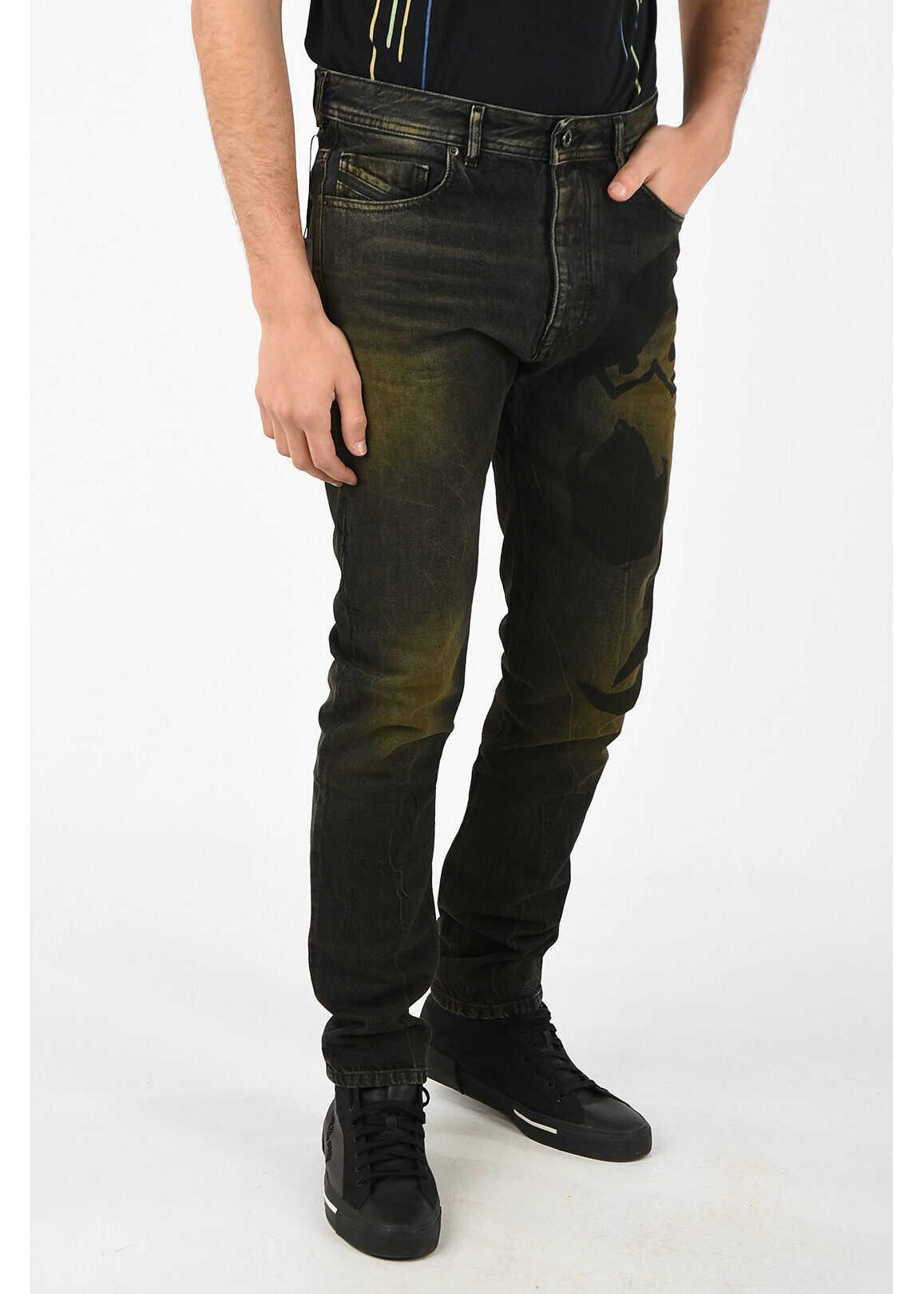 Diesel BLACK GOLD 17cm Printed TYPE-2880 Jeans MULTICOLOR
