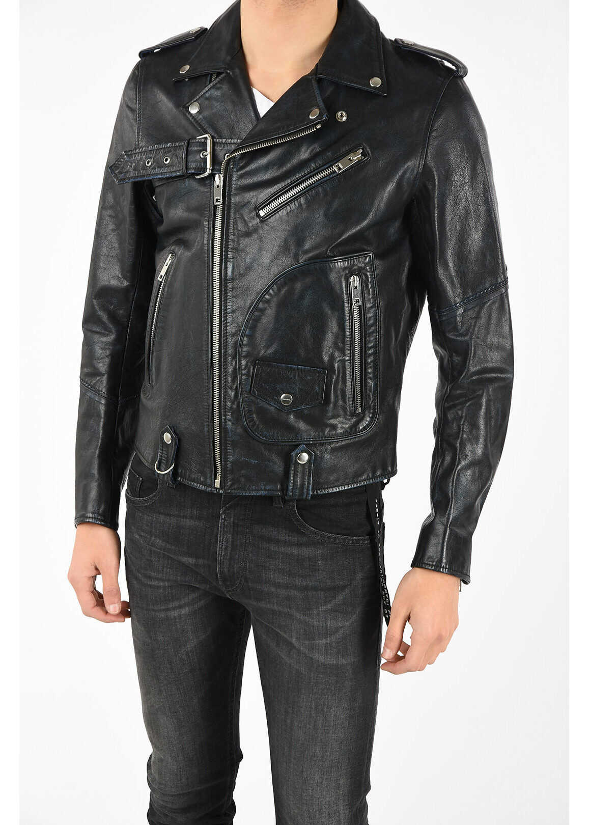 Diesel Leather L-KIO Jacket BLACK