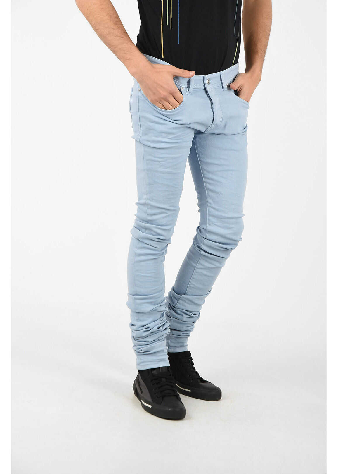 Diesel BLACK GOLD 16cm Skinny Fit TYPE-2614 Jeans LIGHT BLUE imagine