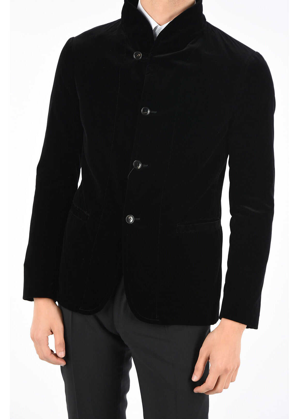 Armani COLLEZIONI velvet blazer BLACK imagine