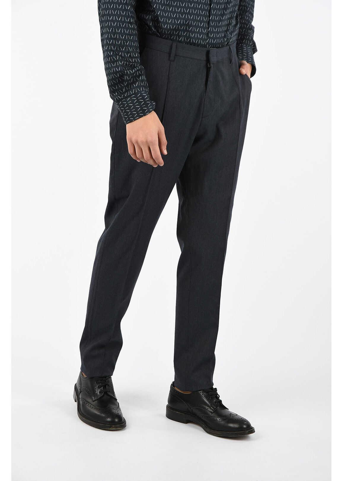 Armani COLLEZIONI double pleat pants GRAY