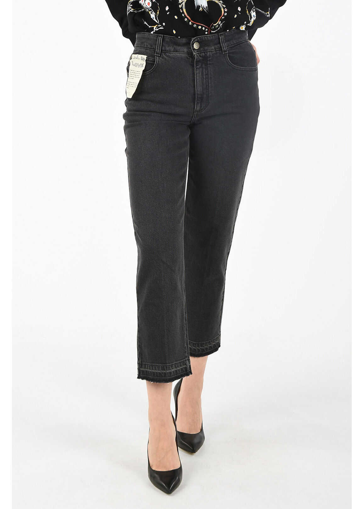 adidas by Stella McCartney regular fit jeans BLACK