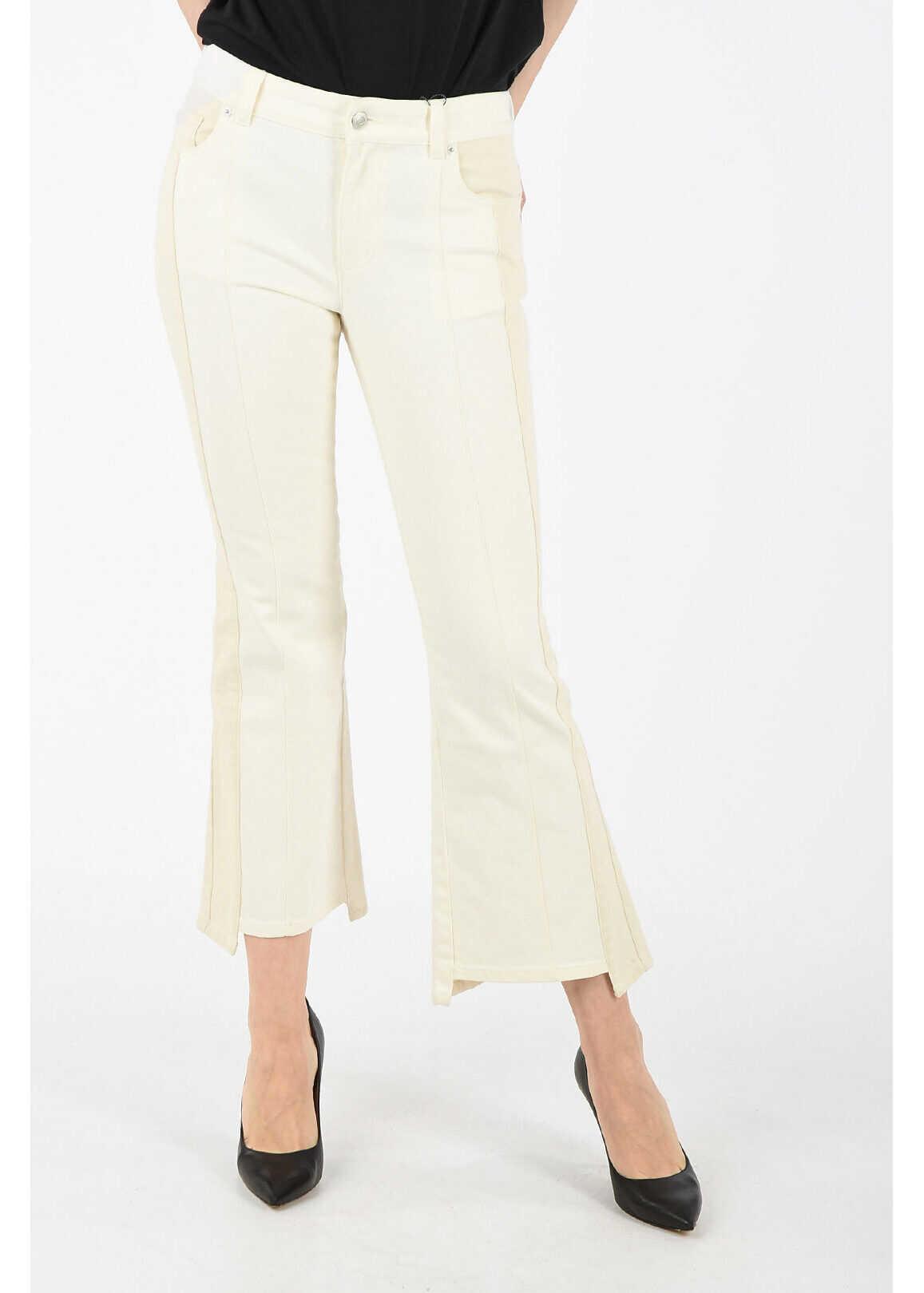 Alexander McQueen bootcut jeans WHITE