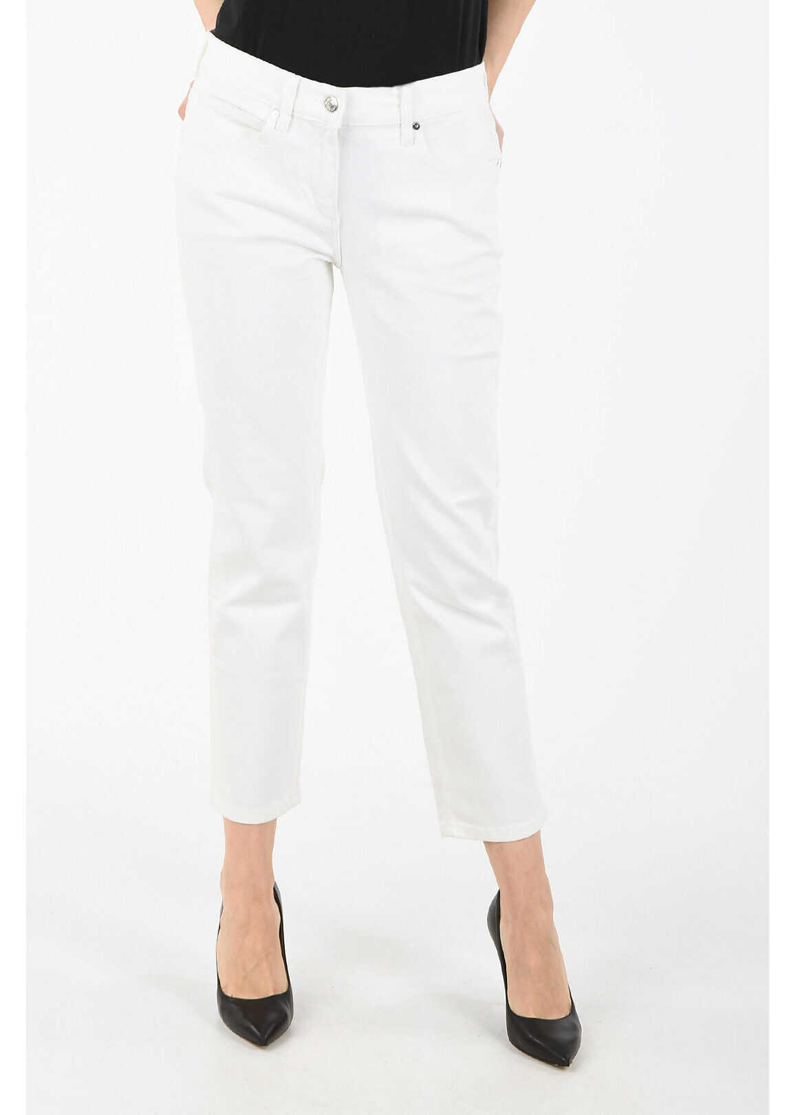 Calvin Klein straight fit jeans WHITE