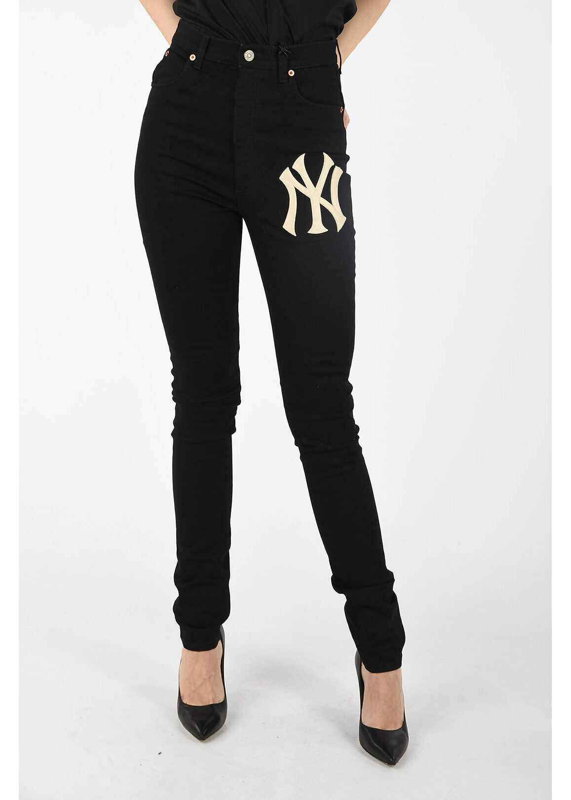 Gucci high-rise waist jeans BLACK