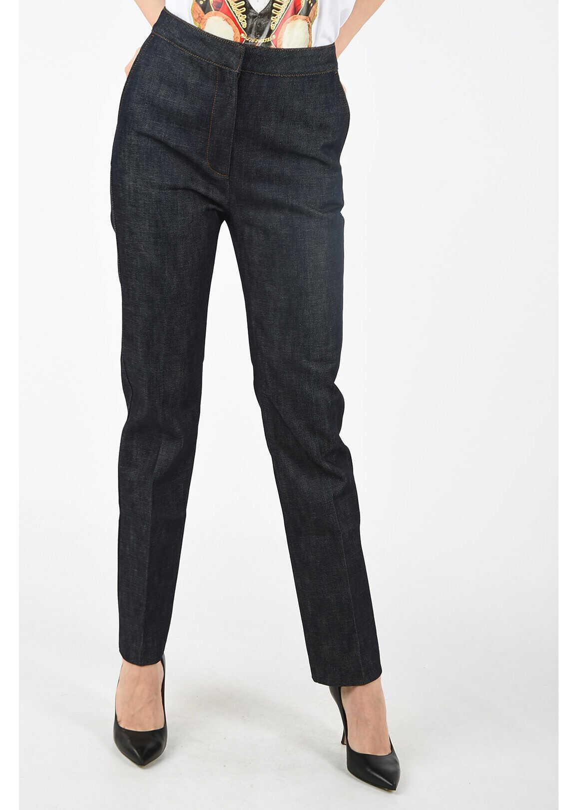 Burberry high-rise waist jeans BLUE