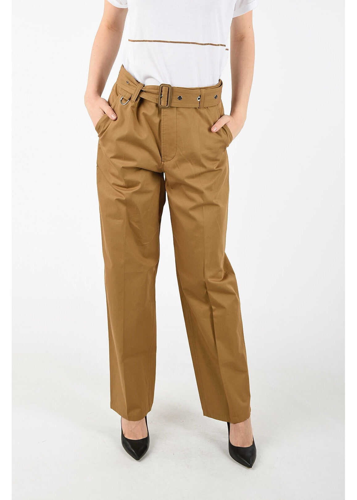 Burberry pants with belt BROWN