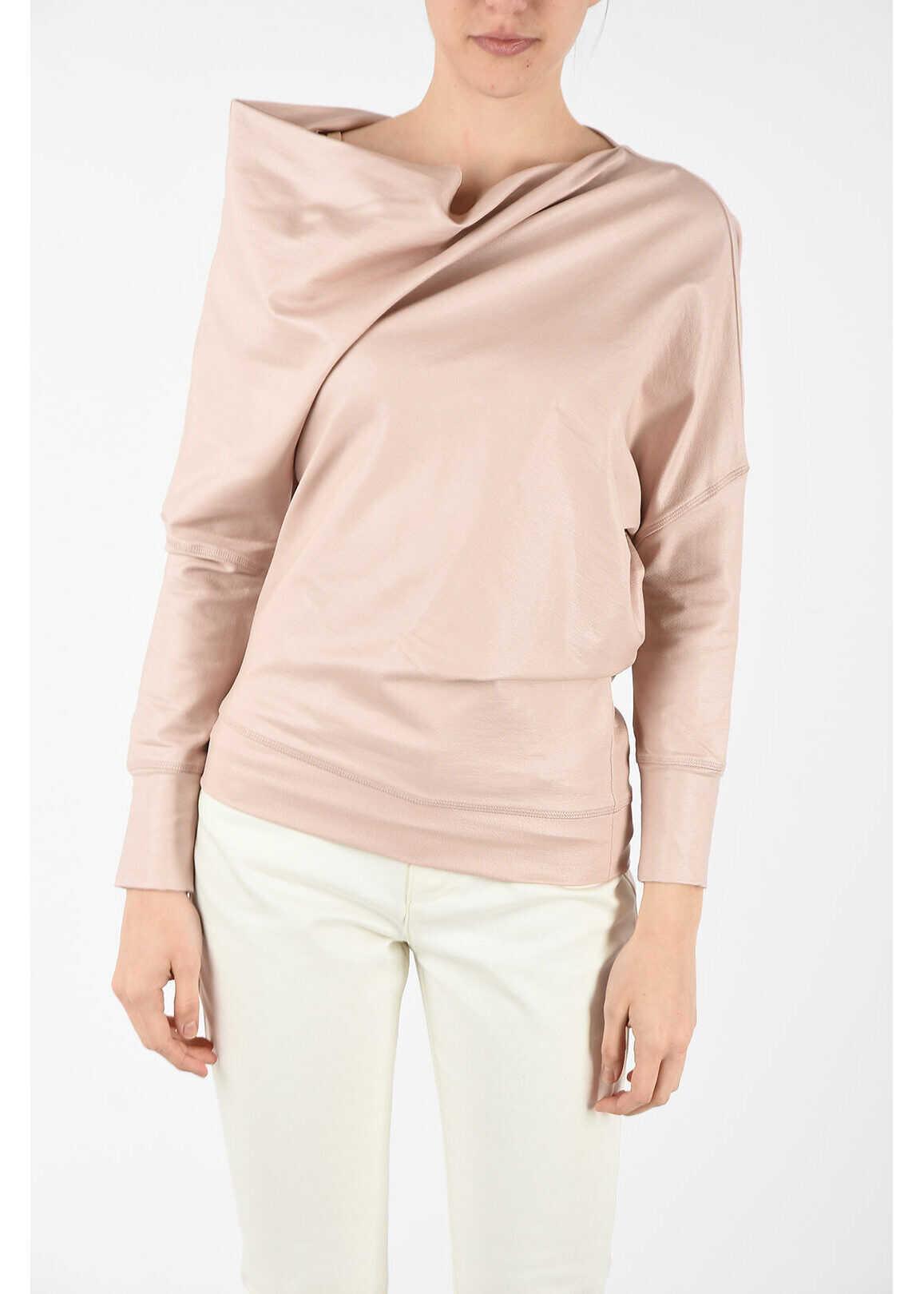 Tom Ford asymmetric sweatshirt PINK