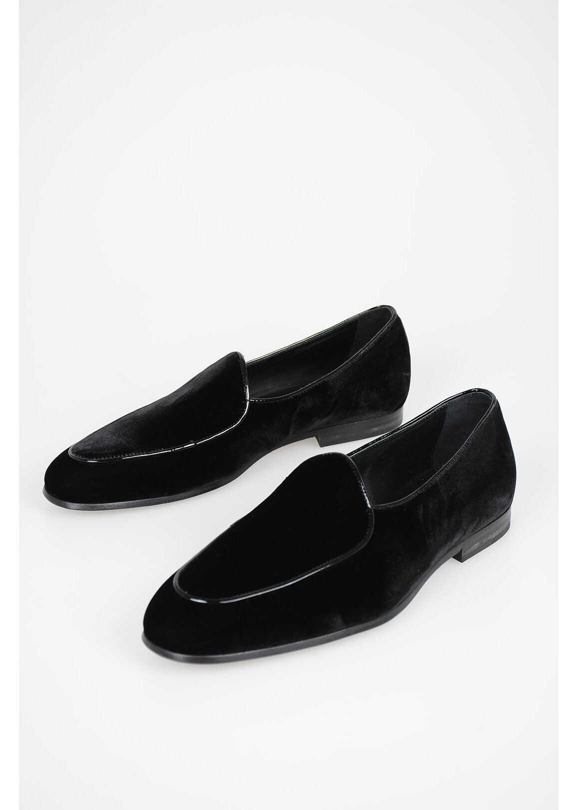 CORNELIANI CC COLLECTION Chenille Loafers BLACK