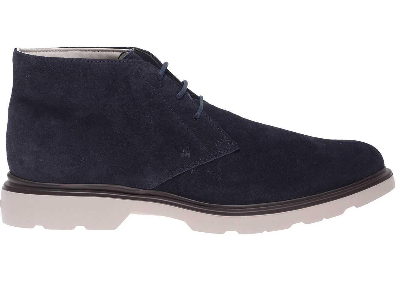 Hogan Blue Suede Desert Boots HXM3930W355HG0U801 Blue imagine b-mall.ro