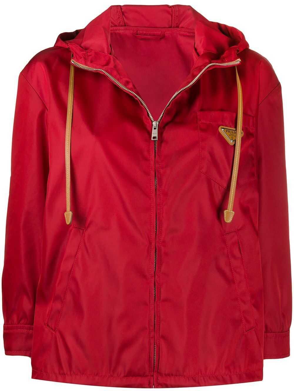Prada Polyamide Outerwear Jacket RED