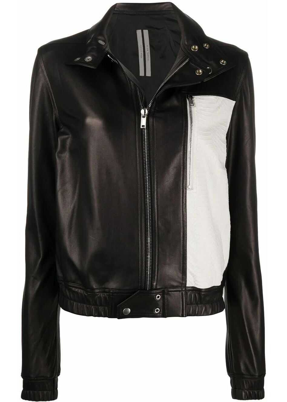 Rick Owens Leather Outerwear Jacket BLACK