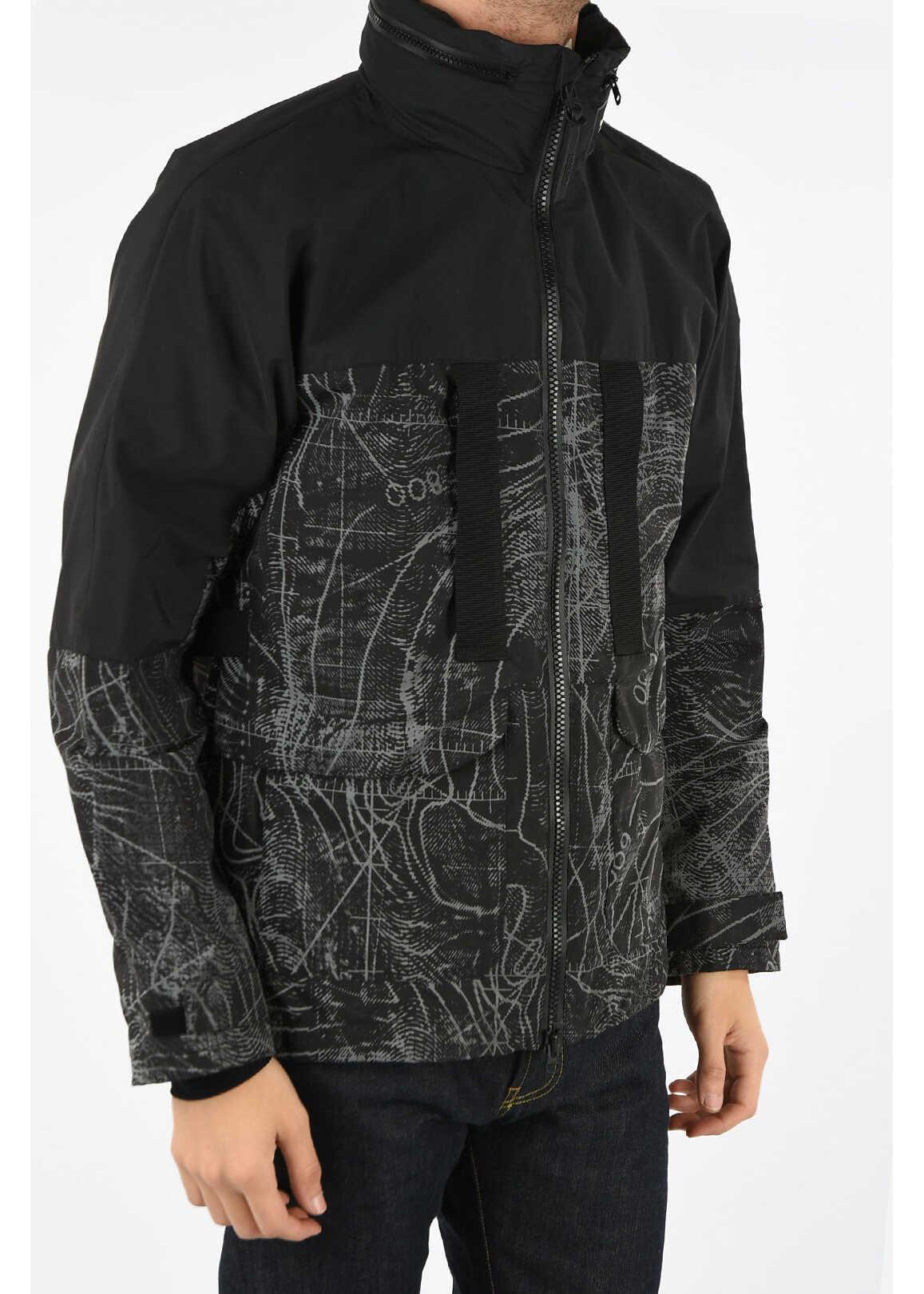 Woolrich Hooded REFLECTIVE Windbreaker BLACK