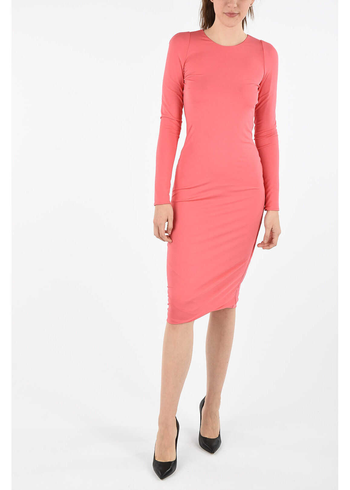 Tom Ford long sleeve midi dress PINK