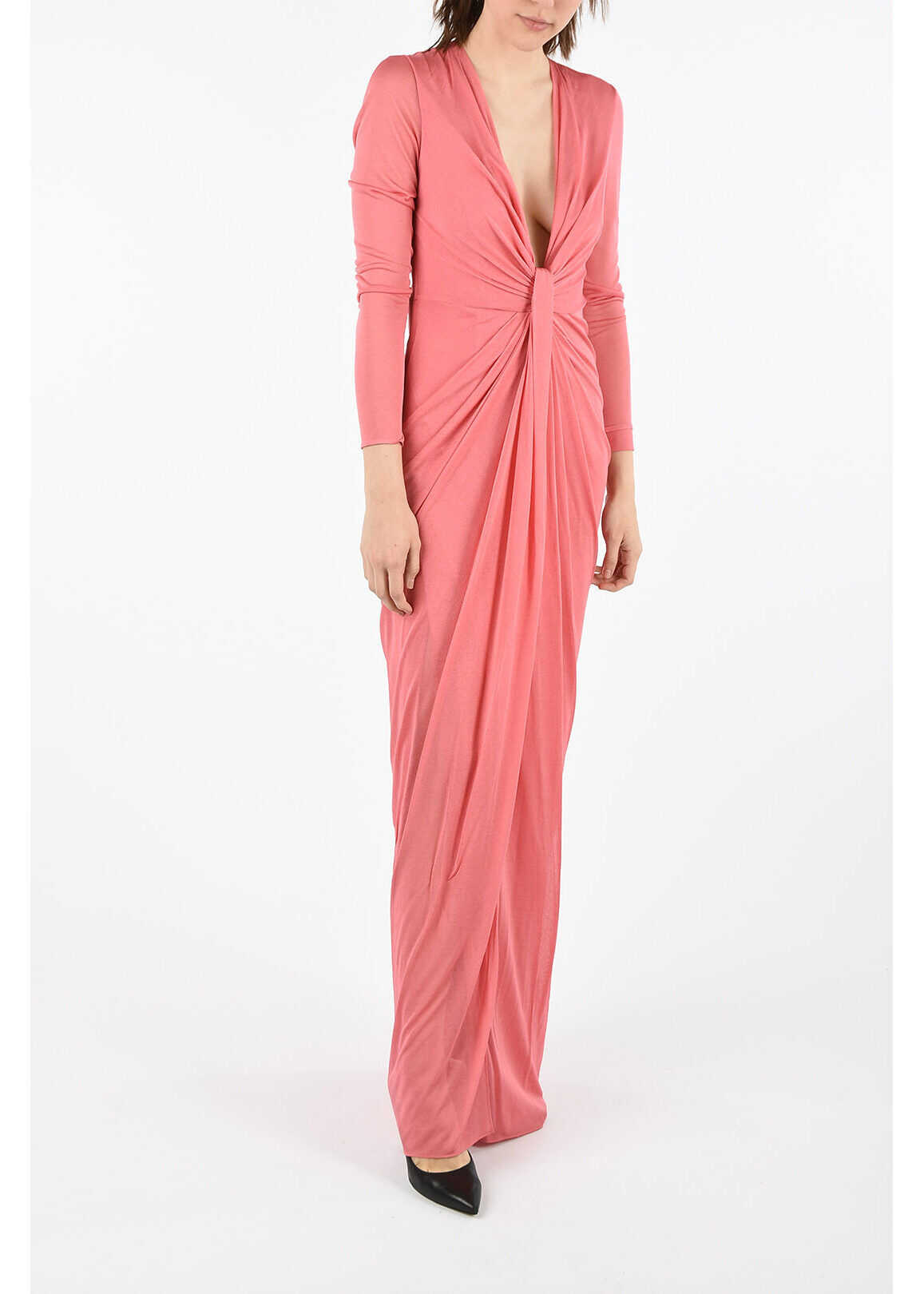 Tom Ford long sleeve empire dress PINK