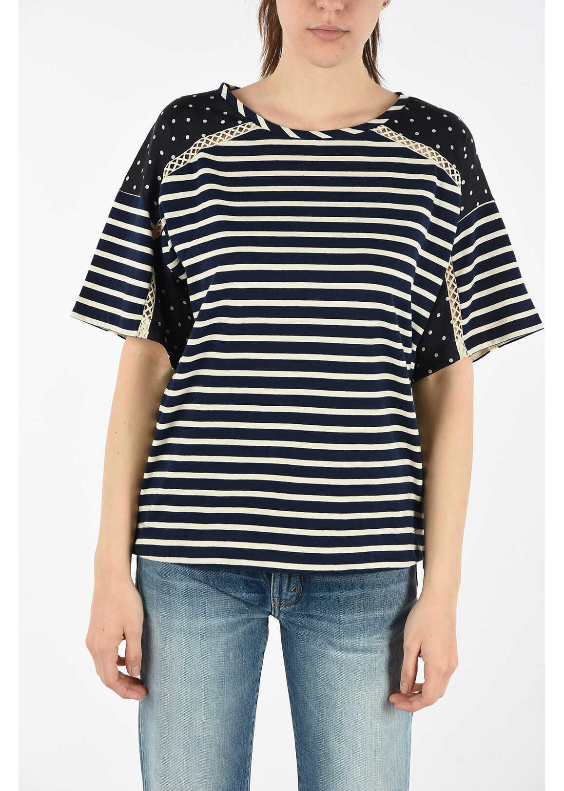Ermanno Scervino Striped T-shirt BLUE