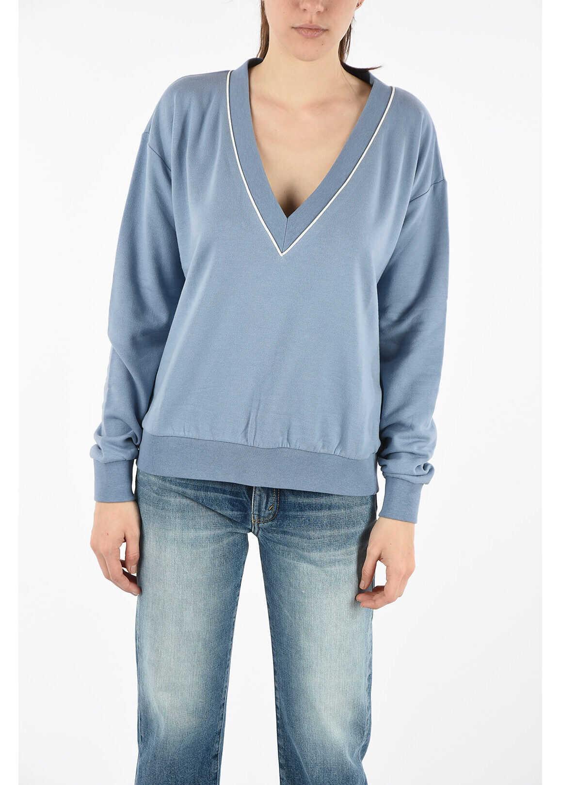 Ermanno Scervino v-neck sweatshirt LIGHT BLUE