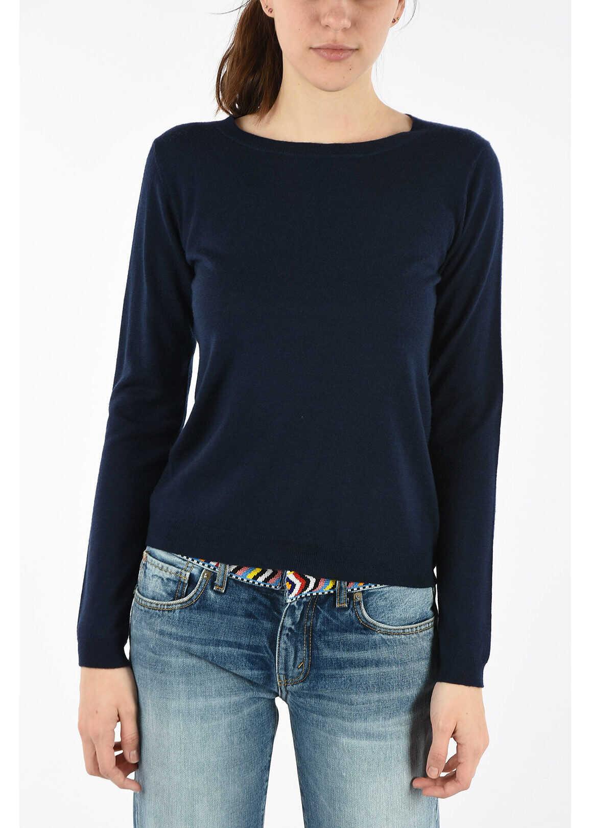 P.A.R.O.S.H. cashmere crew-neck sweater BLUE