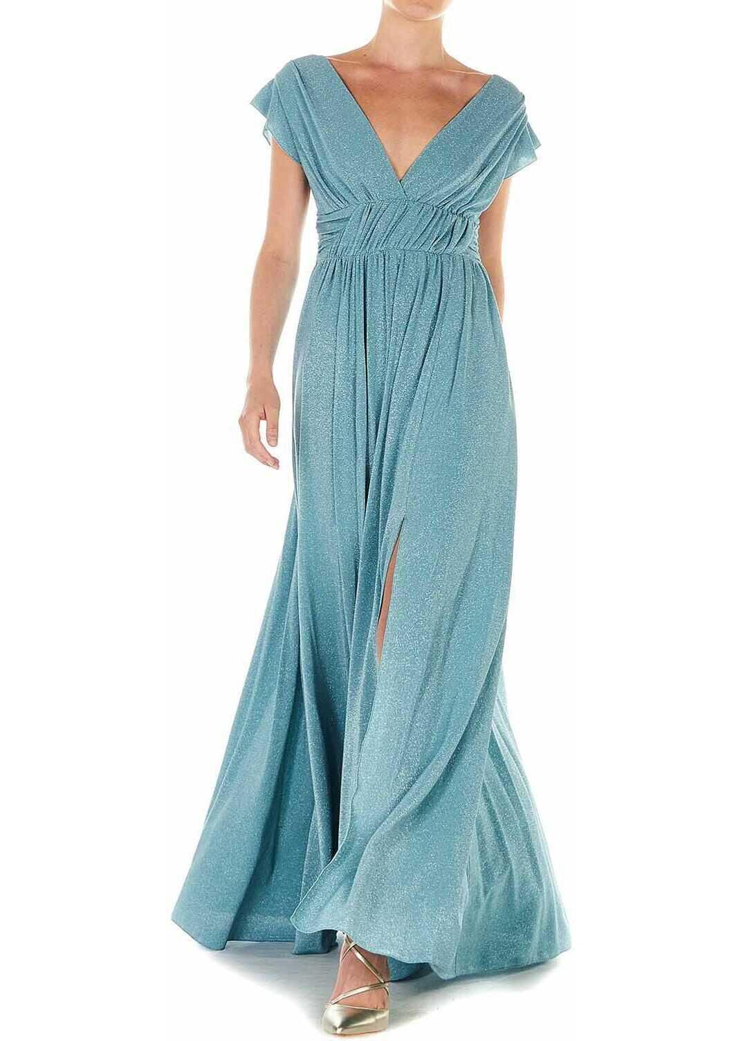 Liu Jo Maxi dress with glitter finish Blue