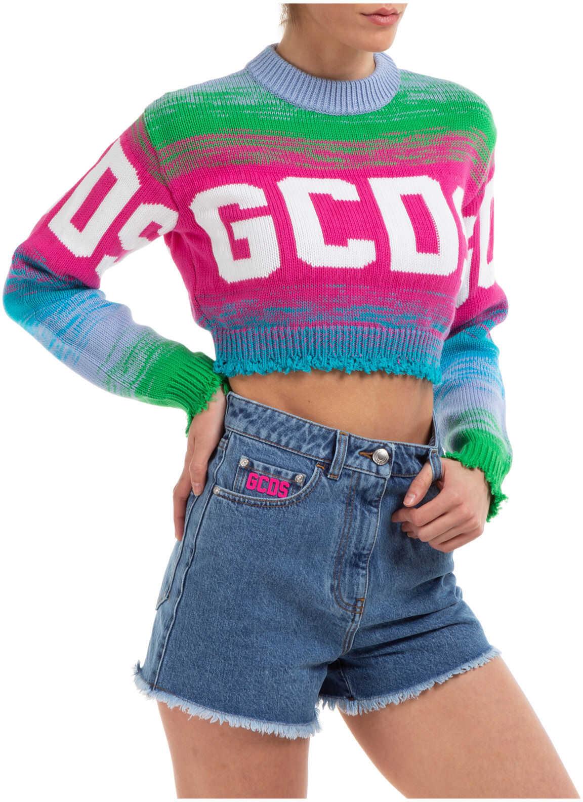 GCDS Logo Crop Pink