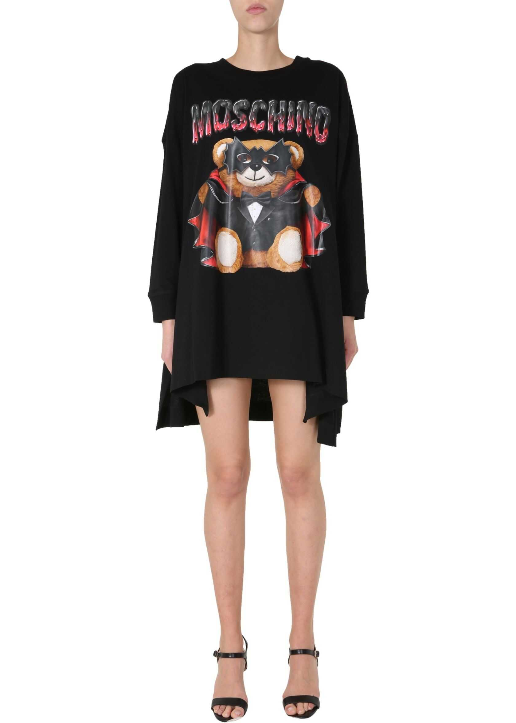 Moschino Oversize Fit Dress BLACK