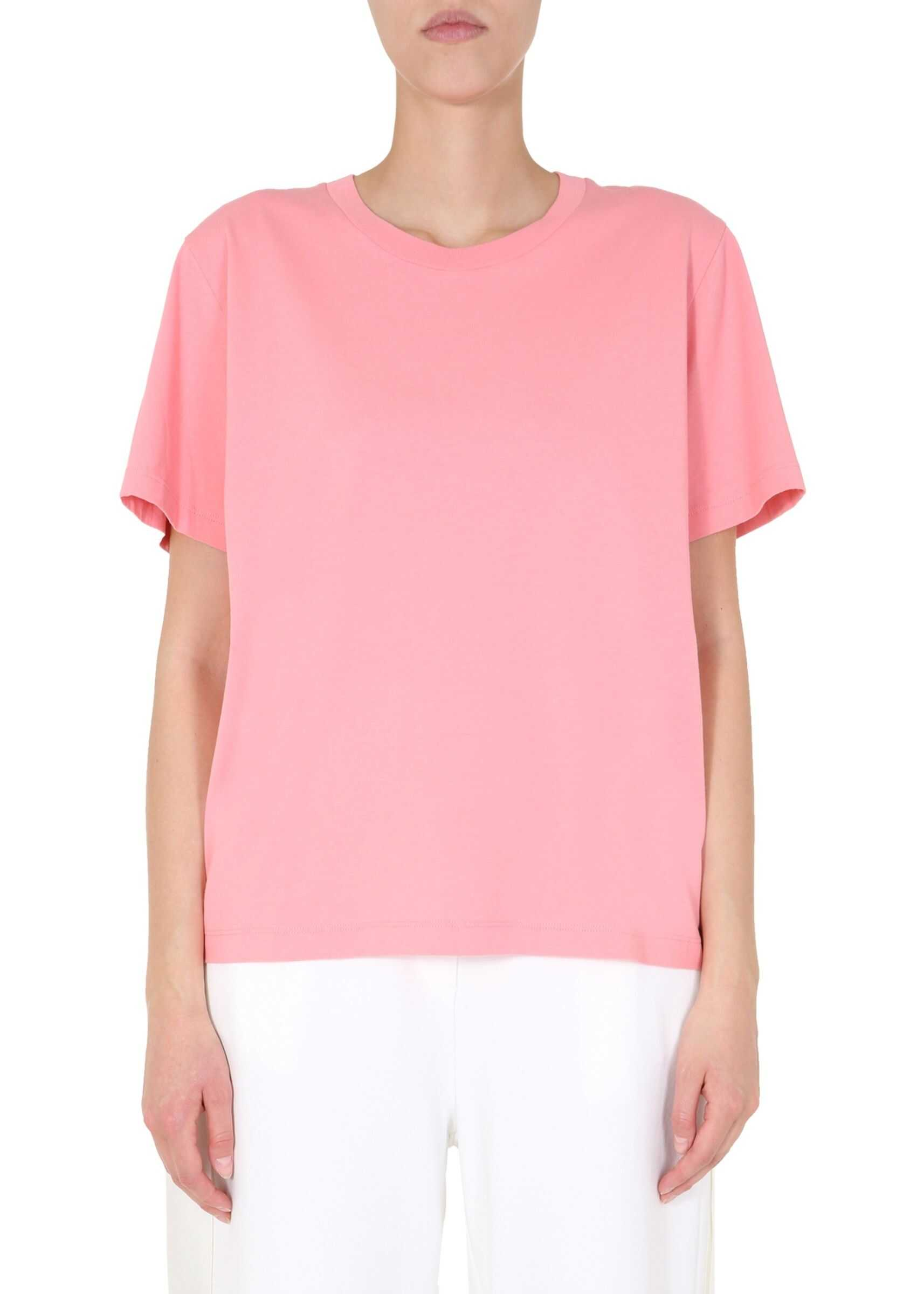 MM6 Maison Margiela Round Neck T-Shirt PINK