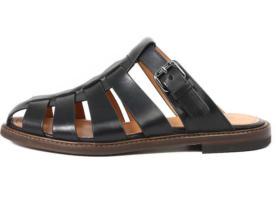 Church's Fisherman Sandals EX0005 9ADJ Black imagine b-mall.ro