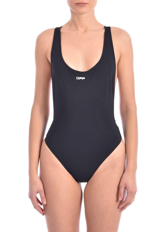 Off-White Logo Swimsuit Black