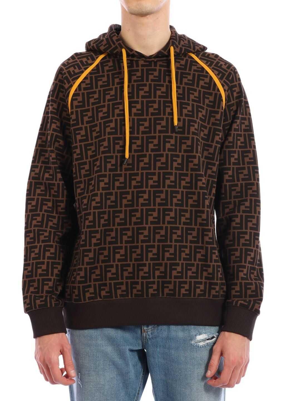 Fendi Cotton Sweatshirt Brown