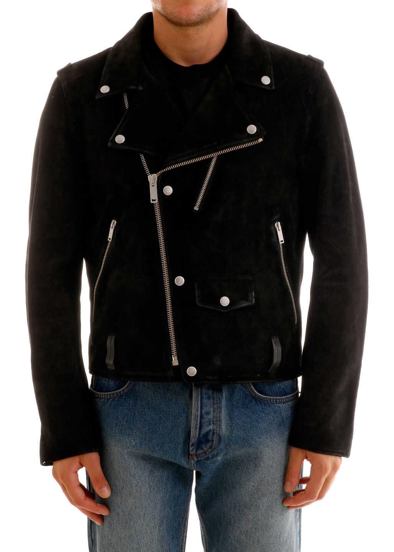 Golden Goose Leather Jacket Black imagine