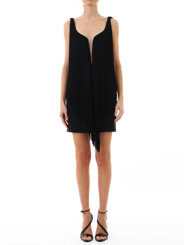 Stella McCartney Minidress Fringes 558335 SCA06 Black image0