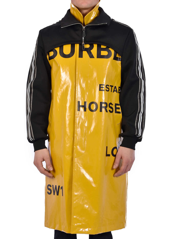 Burberry Car Coat Horseferry Print Yellow imagine