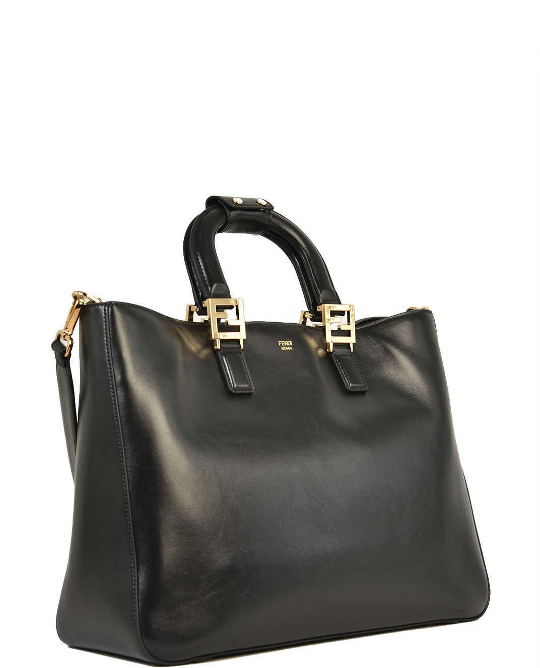Fendi Ff Tote Bag Medium Black